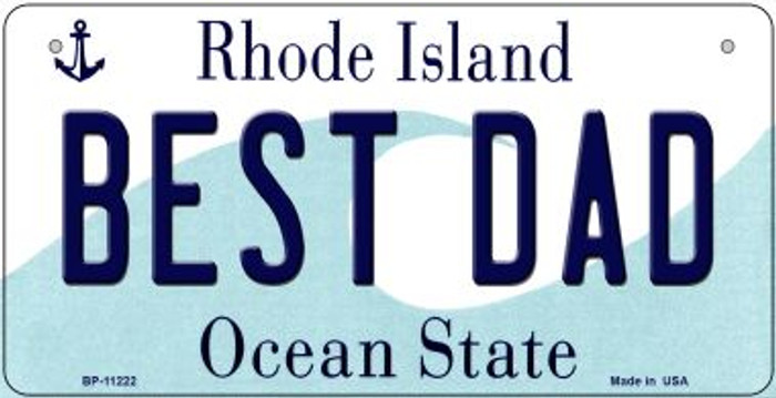 Best Dad Rhode Island Wholesale Novelty Metal Bicycle Plate BP-11222