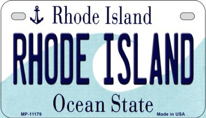 Rhode Island Wholesale Novelty Metal Motorcycle Plate MP-11179