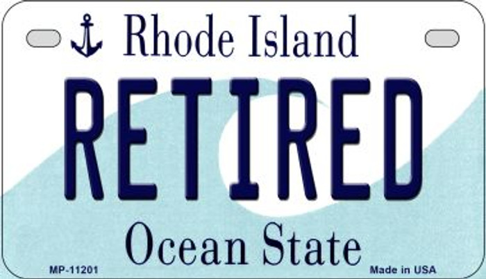 Retired Rhode Island Wholesale Novelty Metal Motorcycle Plate MP-11201