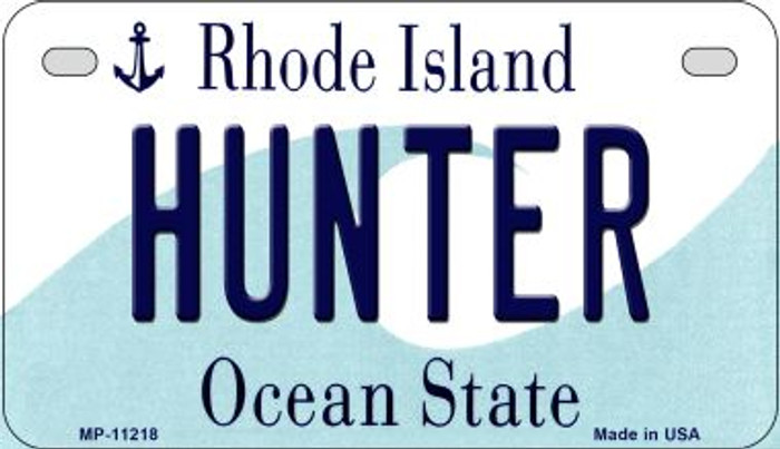 Hunter Rhode Island Wholesale Novelty Metal Motorcycle Plate MP-11218