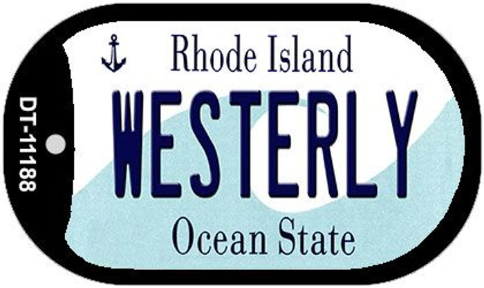 Westerly Rhode Island Wholesale Novelty Metal Dog Tag Necklace DT-11188