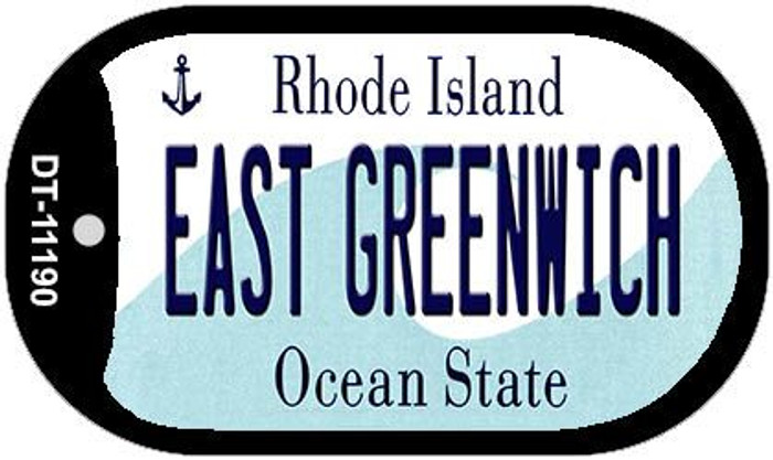 East Greenwich Rhode Island Wholesale Novelty Metal Dog Tag Necklace DT-11190