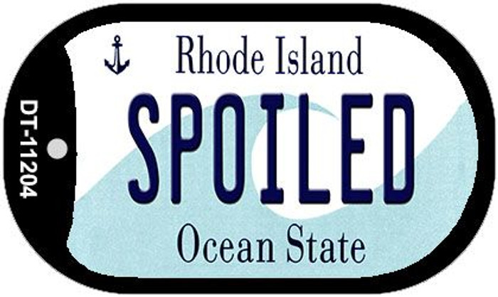 Spoiled Rhode Island Wholesale Novelty Metal Dog Tag Necklace DT-11204