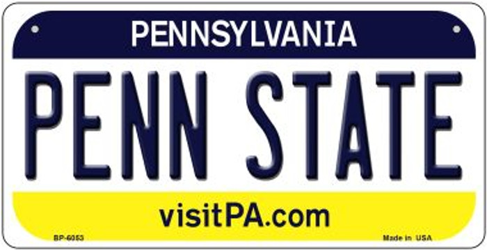 Penn State Pennsylvania Wholesale Novelty Metal Bicycle Plate BP-6053