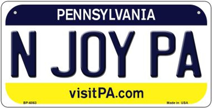 N Joy PA Pennsylvania Wholesale Novelty Metal Bicycle Plate BP-6063