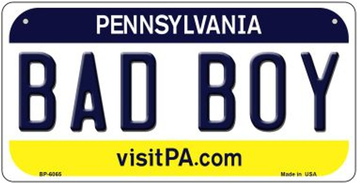 Bad Boy Pennsylvania Wholesale Novelty Metal Bicycle Plate BP-6065