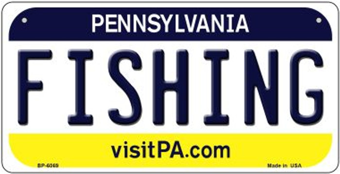 Fishing Pennsylvania Wholesale Novelty Metal Bicycle Plate BP-6069