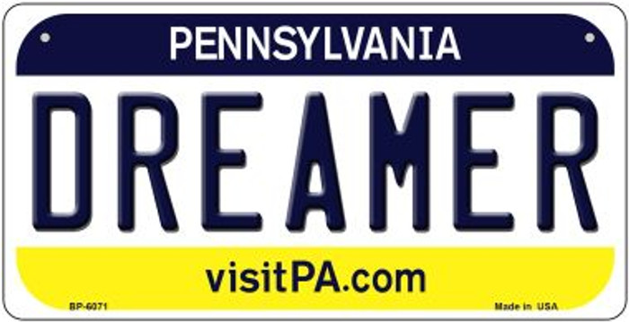 Dreamer Pennsylvania Wholesale Novelty Metal Bicycle Plate BP-6071