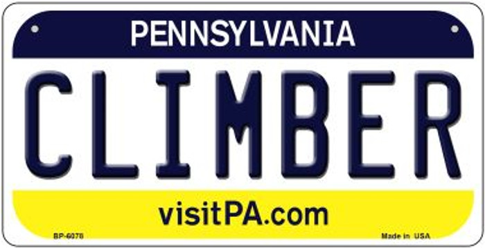 Climber Pennsylvania Wholesale Novelty Metal Bicycle Plate BP-6078