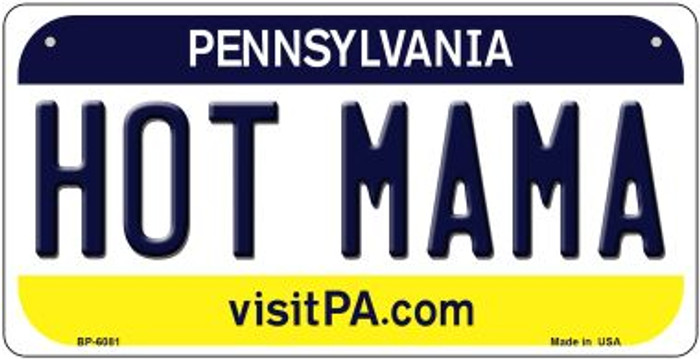 Hot Mama Pennsylvania Wholesale Novelty Metal Bicycle Plate BP-6081