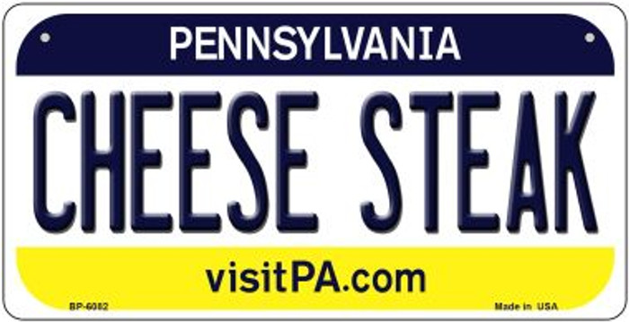 Cheese Steak Pennsylvania Wholesale Novelty Metal Bicycle Plate BP-6082