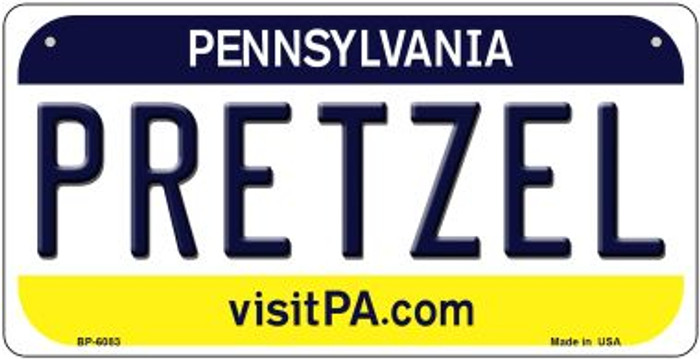 Pretzel Pennsylvania Wholesale Novelty Metal Bicycle Plate BP-6083