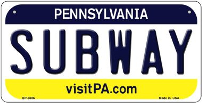 Subway Pennsylvania Wholesale Novelty Metal Bicycle Plate BP-6086