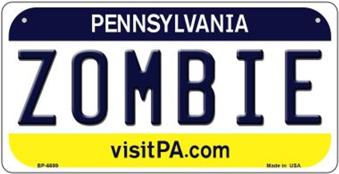 Zombie Pennsylvania Wholesale Novelty Metal Bicycle Plate BP-6699