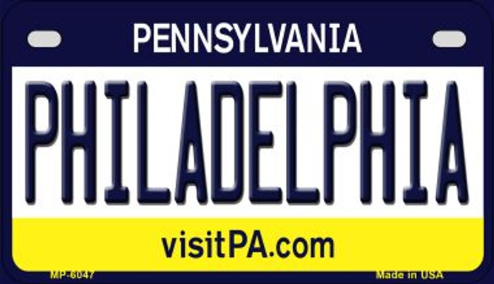 Philadelphia Pennsylvania Wholesale Novelty Metal Motorcycle Plate MP-6047
