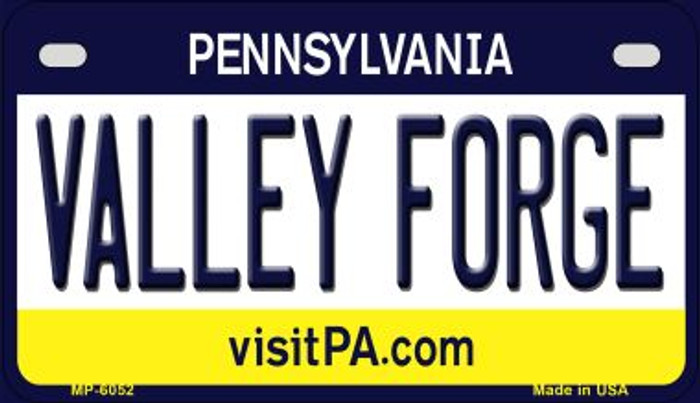 Valley Forge Pennsylvania Wholesale Novelty Metal Motorcycle Plate MP-6052