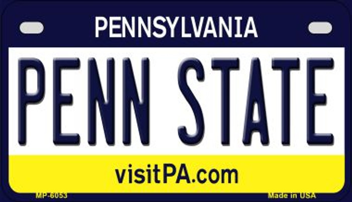 Penn State Pennsylvania Wholesale Novelty Metal Motorcycle Plate MP-6053