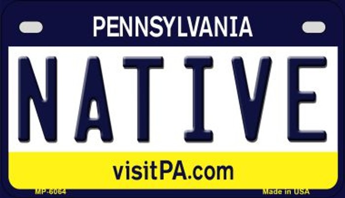 Native Pennsylvania Wholesale Novelty Metal Motorcycle Plate MP-6064