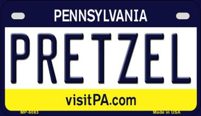 Pretzel Pennsylvania Wholesale Novelty Metal Motorcycle Plate MP-6083