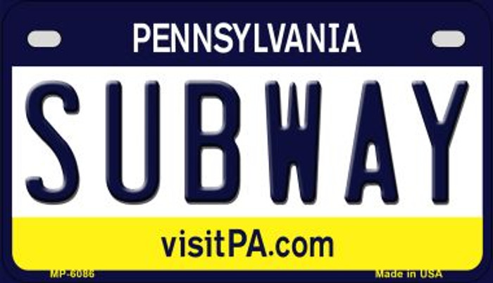 Subway Pennsylvania Wholesale Novelty Metal Motorcycle Plate MP-6086