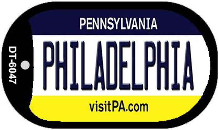 Philadelphia Pennsylvania Wholesale Novelty Metal Dog Tag Necklace DT-6047