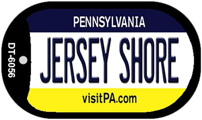 Jersey Shore Pennsylvania Wholesale Novelty Metal Dog Tag Necklace DT-6056