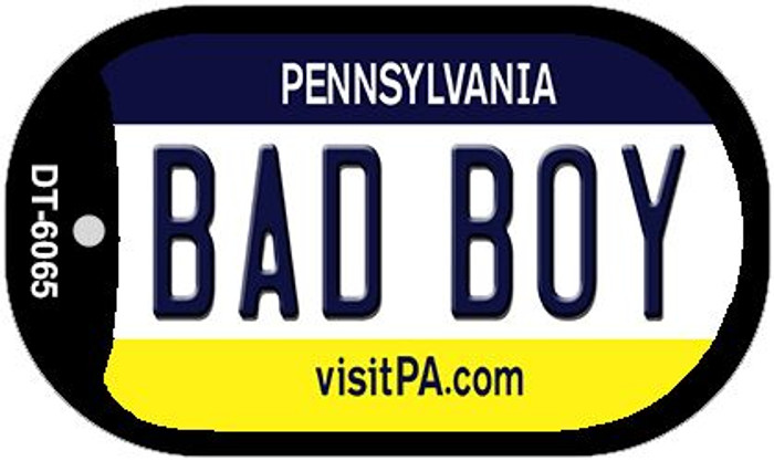 Bad Boy Pennsylvania Wholesale Novelty Metal Dog Tag Necklace DT-6065