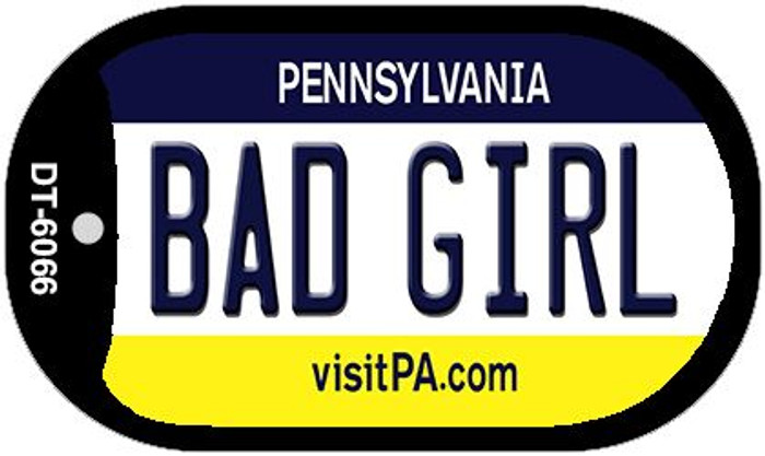 Bad Girl Pennsylvania Wholesale Novelty Metal Dog Tag Necklace DT-6066
