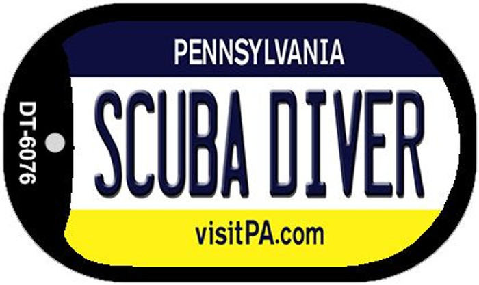 Scuba Diver Pennsylvania Wholesale Novelty Metal Dog Tag Necklace DT-6076
