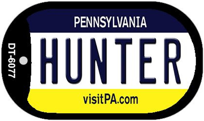 Hunter Pennsylvania Wholesale Novelty Metal Dog Tag Necklace DT-6077