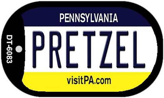 Pretzel Pennsylvania Wholesale Novelty Metal Dog Tag Necklace DT-6083