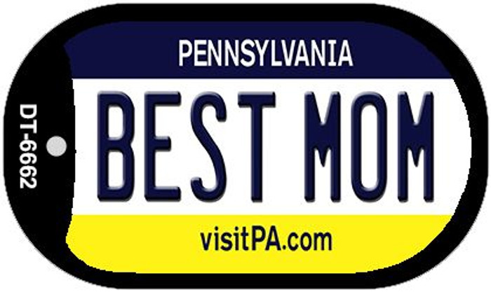 Best Mom Pennsylvania Wholesale Novelty Metal Dog Tag Necklace DT-6662