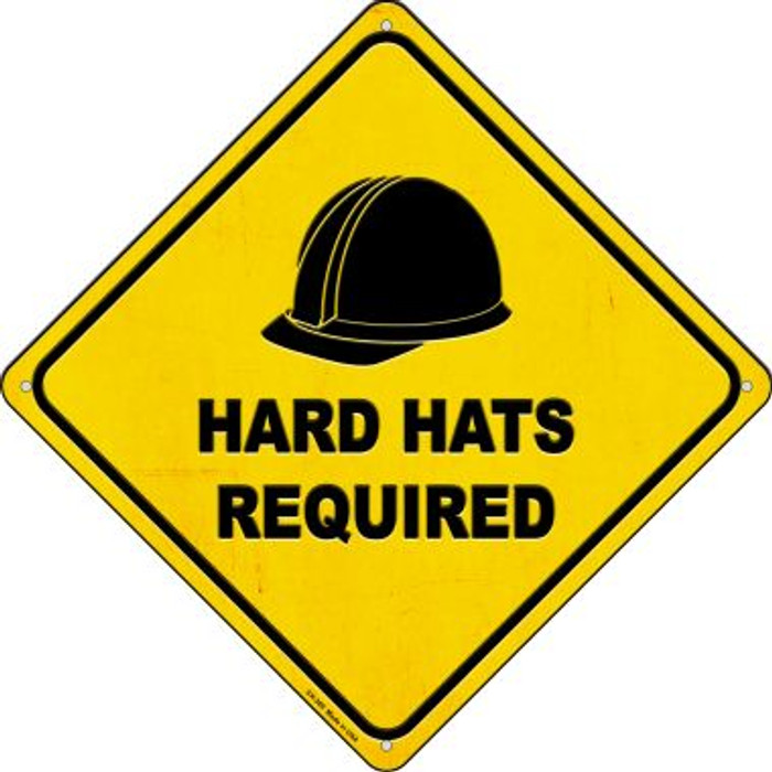 Hard Hats Required Wholesale Novelty Metal Crossing Sign CX-369