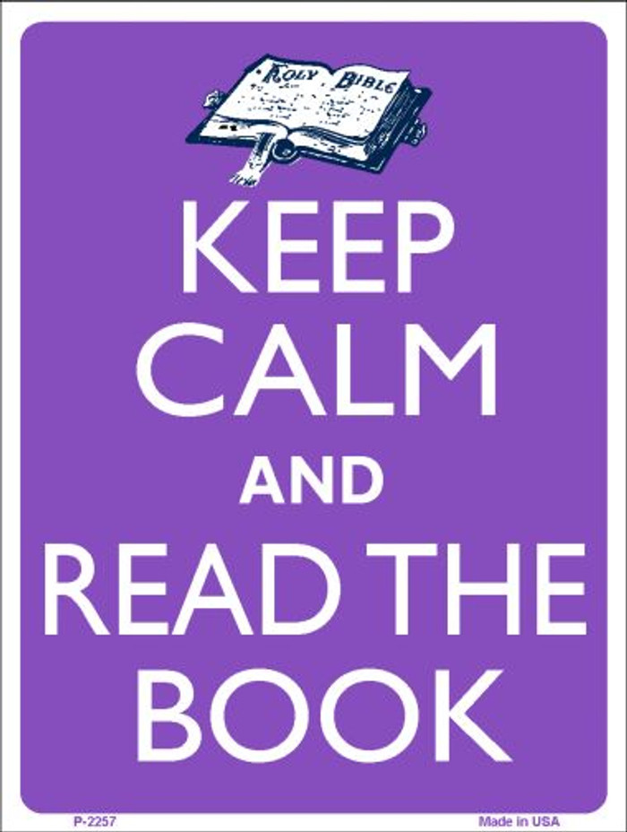 Keep Calm Read A Book Wholesale Metal Novelty Parking Sign P-2257