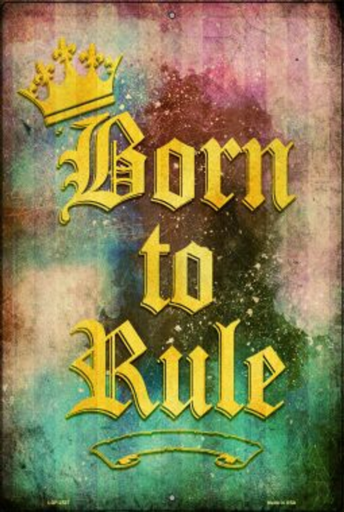 Born to Rule Wholesale Novelty Metal Large Parking Sign LGP-2527