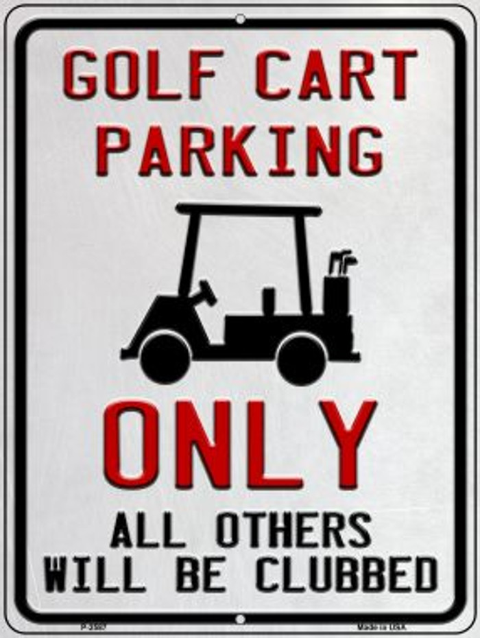 Golf Cart Parking Wholesale Novelty Metal Parking Sign P-2587
