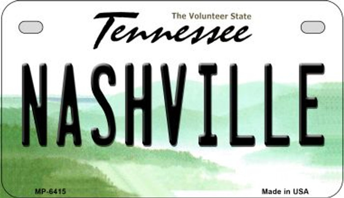 Nashville Tennessee Wholesale Novelty Metal Motorcycle Plate MP-6415