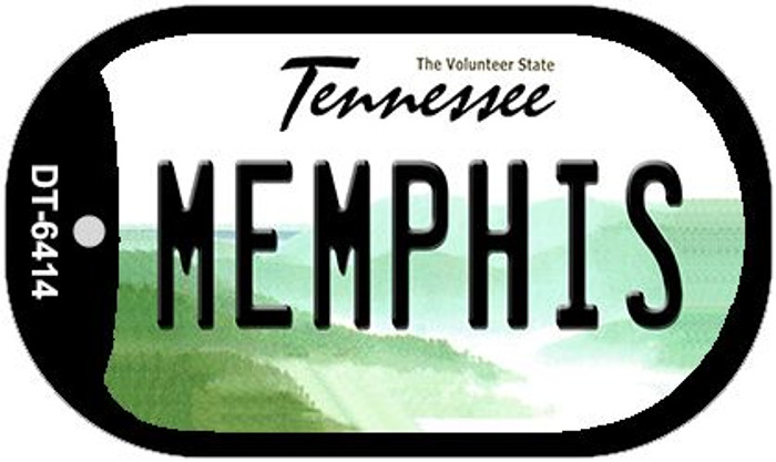 Memphis Tennessee Wholesale Novelty Metal Dog Tag Necklace DT-6414