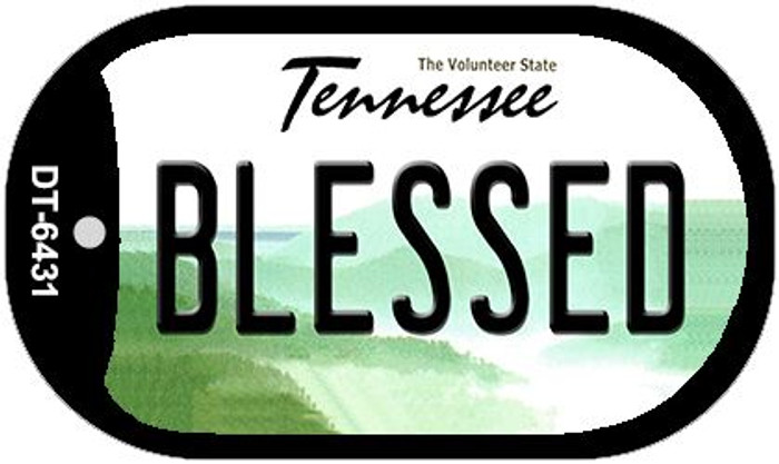 Blessed Tennessee Wholesale Novelty Metal Dog Tag Necklace DT-6431