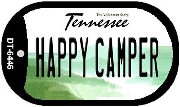 Happy Camper Tennessee Wholesale Novelty Metal Dog Tag Necklace DT-6446