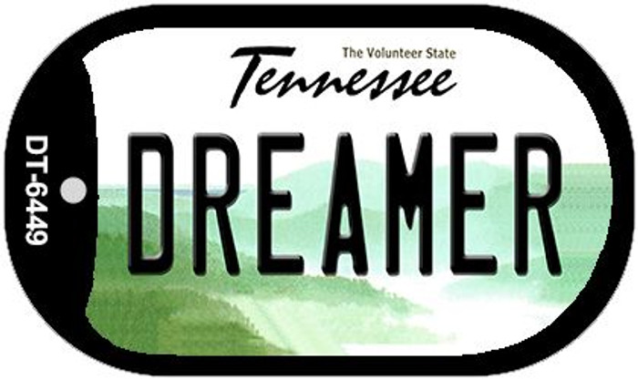 Dreamer Tennessee Wholesale Novelty Metal Dog Tag Necklace DT-6449