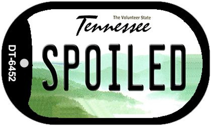 Spoiled Tennessee Wholesale Novelty Metal Dog Tag Necklace DT-6452