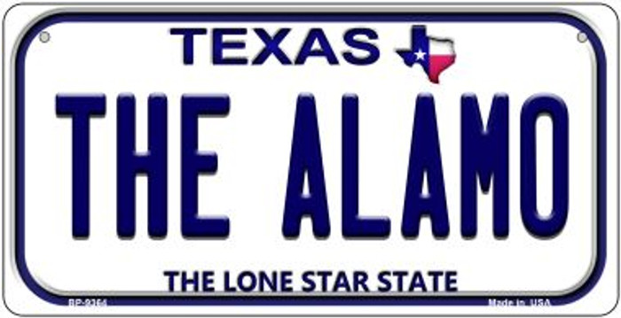 The Alamo Texas Wholesale Novelty Metal Bicycle Plate BP-9364