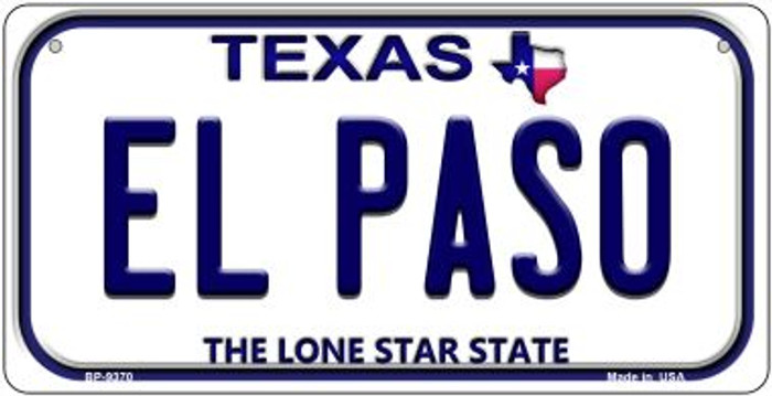 El Paso Texas Wholesale Novelty Metal Bicycle Plate BP-9370
