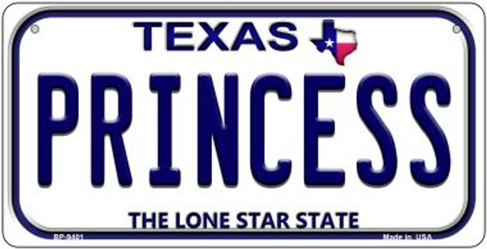 Princess Texas Wholesale Novelty Metal Bicycle Plate BP-9401