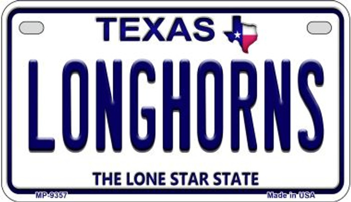 Longhorns Texas Wholesale Novelty Metal Motorcycle Plate MP-9357