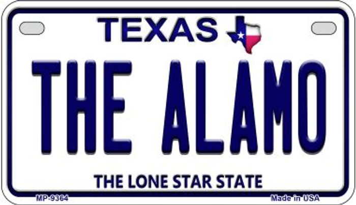 The Alamo Texas Wholesale Novelty Metal Motorcycle Plate MP-9364