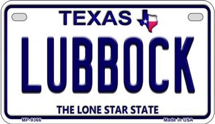 Lubbock Texas Wholesale Novelty Metal Motorcycle Plate MP-9366