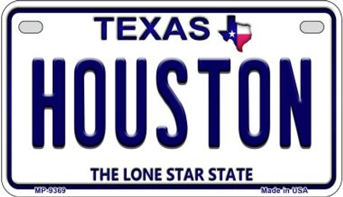 Houston Texas Wholesale Novelty Metal Motorcycle Plate MP-9369