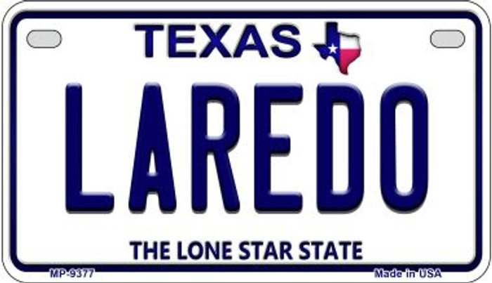 Laredo Texas Wholesale Novelty Metal Motorcycle Plate MP-9377